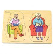 Beleduc - Puzzle en bois multi-niveaux - Le cycle de vie