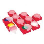 Maxi pots avec couvercle - Lot de 10