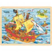 Lot de 4 puzzles à cadre en bois 96 pièces, thèmes divers n°2