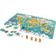 Puzzle 100 pièces + jeu, le tour du monde
