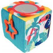 Cube d'éveil en tissu - 10cm