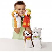 Lot de 4 marionnettes à main - animaux domestiques