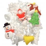 Lot de 35 formes de Noël en polystyrène