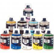 Lot de 10 sprays 100ml de peinture textile SETACOLOR
