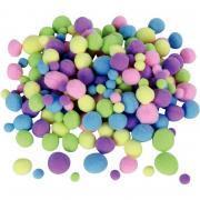 Sachet de 200 pompons pastels assortis