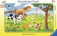 PUZZLE CADRE 15 PIECES ANIMO CAMPAGNE