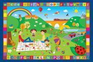 Tapis objets - lettres - couleurs - 100x150 cm