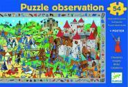 """Djeco - Puzzle d'observation de  54 pièces """"Les chevaliers"""""""