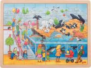 LOT 4 PUZZLES CADRE BOIS 48 PIECES DIVERS