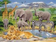 PUZZLE XXL 200 PIECES - ANIMAUX D'AFRIQUE
