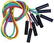 Cordes à sauter avec poignées - Longueur 220 cm - Lot de 4