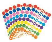 Gommettes rondes assorties - Pochette de 640