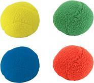 Lot de 4 balles en tissu diamètre 7,5cm coloris assortis