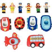 Set de 6 mini véhicules et 6 figurines WOW