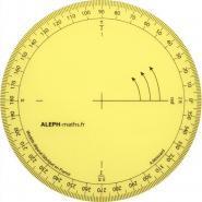 Rapporteur géométrie 360°