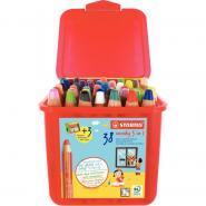 Classpack de 38 crayons de couleur Woody + 3 taille-crayons