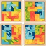 Lot de 4 puzzles lettre L