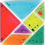Tangram gel bicolore 7 pièces