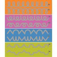 Set de 8 pistes graphiques 100x15 cm n°2