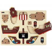 Première maquette, le bateau pirate