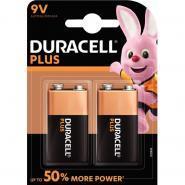 Blister 2 piles 9v PLUS POWER 6LR61 DURACELL
