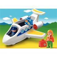 Avion avec pilote et passager PLAYMOBIL 1-2-3
