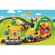 Train avec passagers et circuit PLAYMOBIL 1-2-3