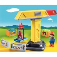 Grue de chantier & ouvrier PLAYMOBIL 1-2-3
