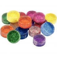 Pot de 500g mosaïques en verre pailletées rondes