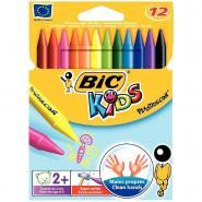 Crayons de couleur Plastidécor - Pochette de 12