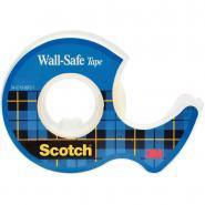 Rouleau d'adhésif invisible scotch wall safe 19 mm x 16,5 m sur dévidoir