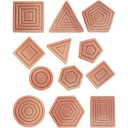 Set de 12 galets les formes