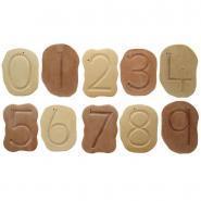 Carton de 10 galets les chiffres de 0 à 9
