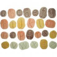 Carton de 26 galets alphabet en minuscule