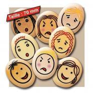 Carton de 8 galets géants les émotions