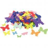 Papillon en feutrine adhésives - Sachet de 150