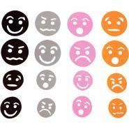 Visages expressifs en mousse - Sachet de 60