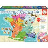 Puzzle de 150 pièces départements et régions de France