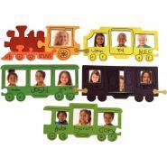Kit décoration le train de la classe 24 cadres - En carton à décorer