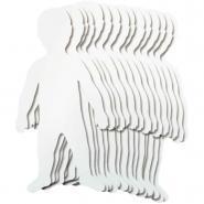 Kit de 24 grandes silhouettes d'enfants
