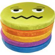 Set de 5 coussins émotion : Malade, malheureux, fatigué, colère, joyeux