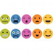 Set de 5 coussins émotions : Fâché, triste, amoureux, surpris, heureux