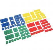Boite de 72 briques souples translucides