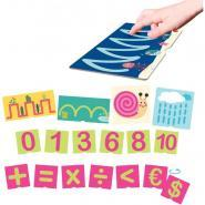Set de 23 cartes tactiles les chiffres et les tracés