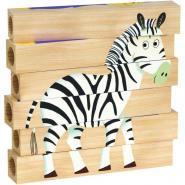 Puzzles Tubulo 4 en 1 les animaux sauvages