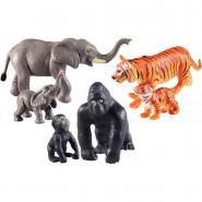 Jumbo animaux de la jungle mamans et bébés - Boite 6 figurines
