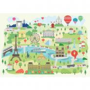 Puzzle en bois 24 pièces Paris illustré