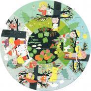 Puzzle rond en carton de 40 pièces les 4 saisons