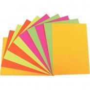 Carton ondulé coloris fluo format 25 x 35 cm - Paquet de 10 feuilles