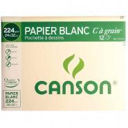 Papier dessin à grain C 224g 24x32 - Pochette de 12